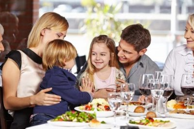 Family dining out