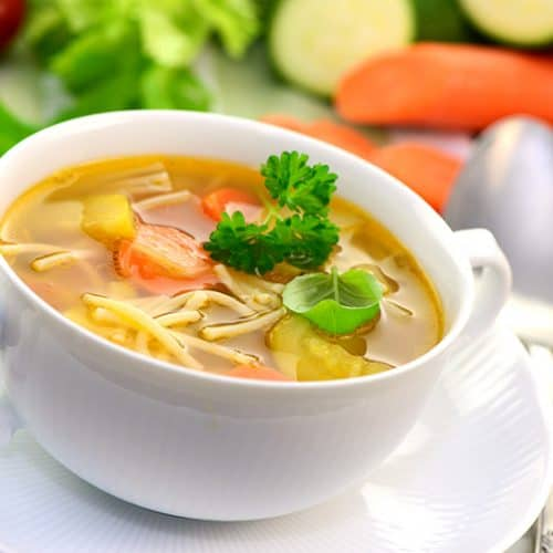 Italian Vegetable Soup in a cup