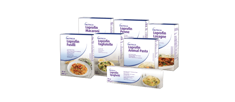 Low Protein pasta packaging