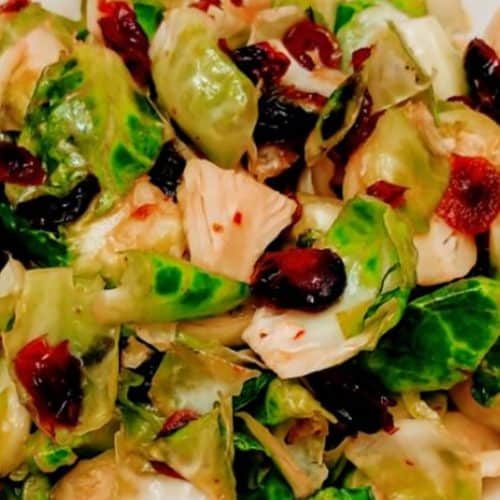 Sweet Tangy Brussels Sprouts in bowl