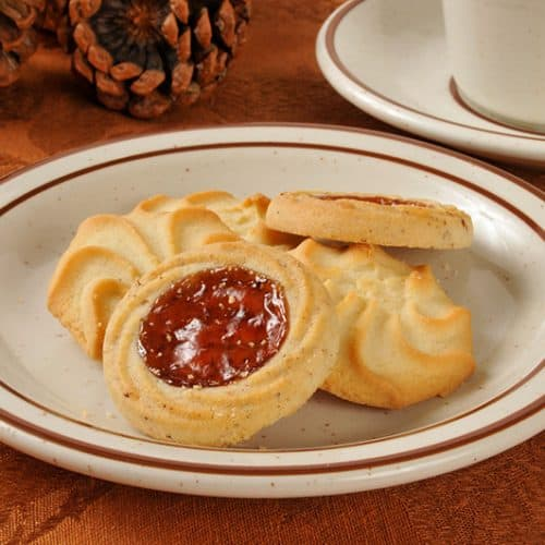 Cherry Whirls on a plate