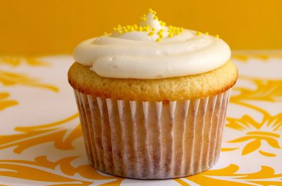Yellow Cupcake with frosting